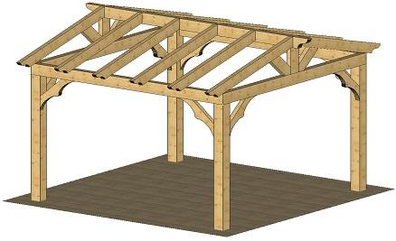 Top pergolas de madera planos wallpapers - Como construir una pergola barata ...